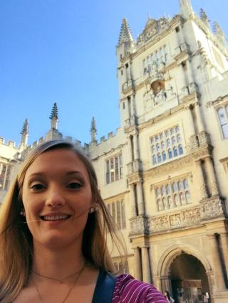 Selfie at the Bodleian! (via K. Emmons)