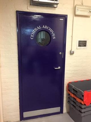 Behind that door lies the archives of the British Museum (via K. Emmons)
