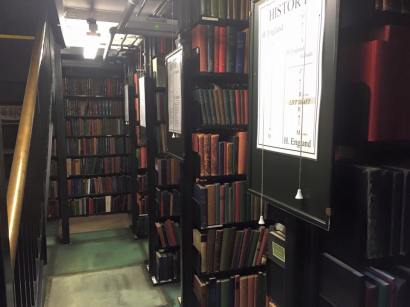 London Library shelving units (via K. Emmons)
