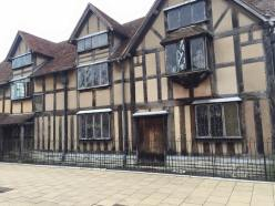 Shakespeare's childhood home (via K. Emmons)