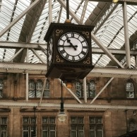 Glasgow Central station clock (via K. Emmons)